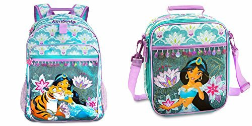 Disney Store Deluxe Jasmine Backpack and Lunch Box Tote Combo Set Aladdin