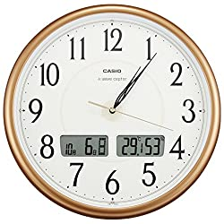 CASIO ITM-200J-5JF Pearl Brown analog thermometer hygrometer clock radio clock WAVE CEPTOR (Japan Import)