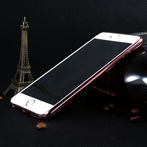 "Coque iPhone 6s Plus / 6 Plus , ivencase Luxe Ultra-Mince en Cuir Texture TPU Silicone Hybride Souple Bumper Housse Etui Case Cover pour iPhone 6s Plus / 6 Plus 5.5"" (Rouge)"