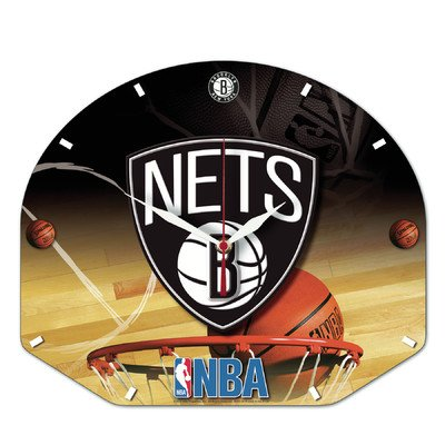 Wincraft Plastic Clock - Wincraft NBA Brooklyn Nets High Definition Plaque Clock