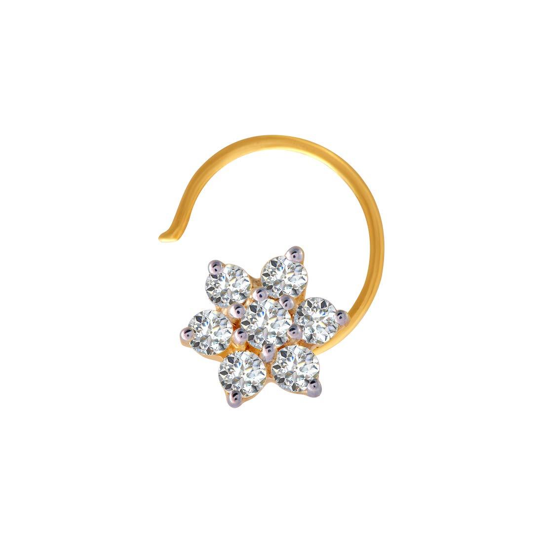 Buy P C Chandra Jewellers 18k 750 Yellow Gold And Diamond Nose