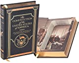 Real Hollow Book Safe - The Constitution of the United States of America by The Founding Fathers (Leather-bound) (Magnetic Closure)