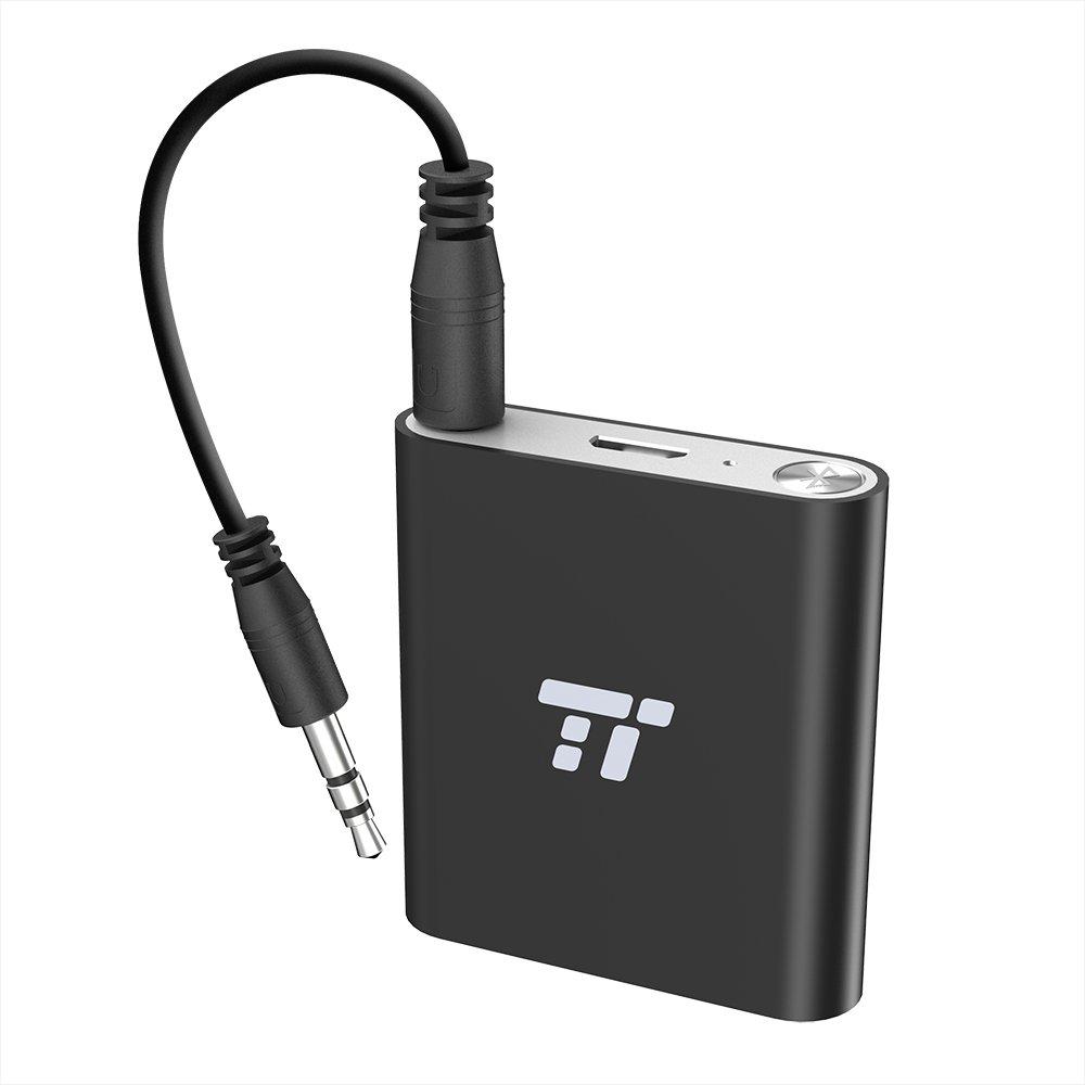 Trasmettitore Bluetooth 4.1 TaoTronics Adattatore Portatile Wireless fino a 65 ft / 20m ( aptX, Bassa Latenza, Connessione con 2 Dispositivi, Doppia Connessione 3.5mm & RCA ) TT-BA11