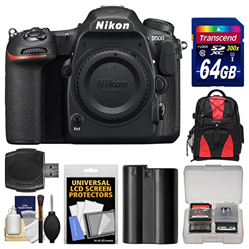 Nikon D500 Wi-Fi 4K Digital SLR Camera Body with 64GB...