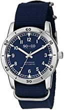 SO & CO New York  Men's 5018A.1 Yacht Club Quartz Blue Nylon Strap Watch