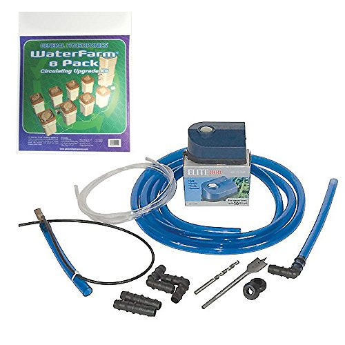 (General Hydroponics WaterFarm Circulating Upgrade Kit, 8-Pack)