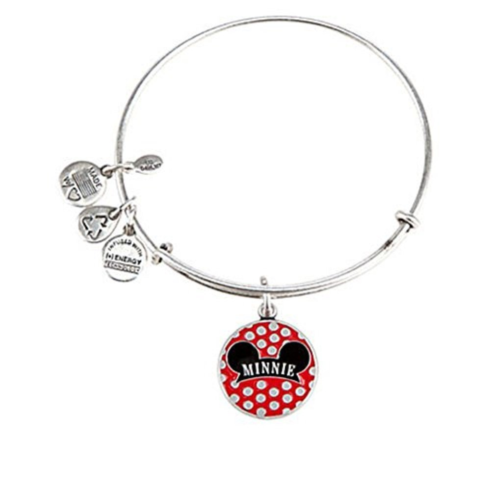 Disney Parks Alex and Ani Minnie Mouse Ears Hat Charm Bracelet (Silver finish)