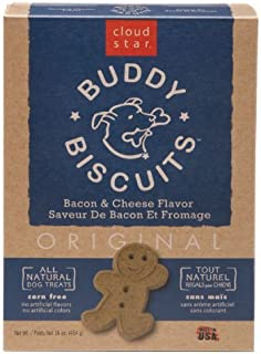 product image for Cloud Star Buddy Biscuits Dog Treats, 16oz Box, Bacon & Cheese by Cloud Star
