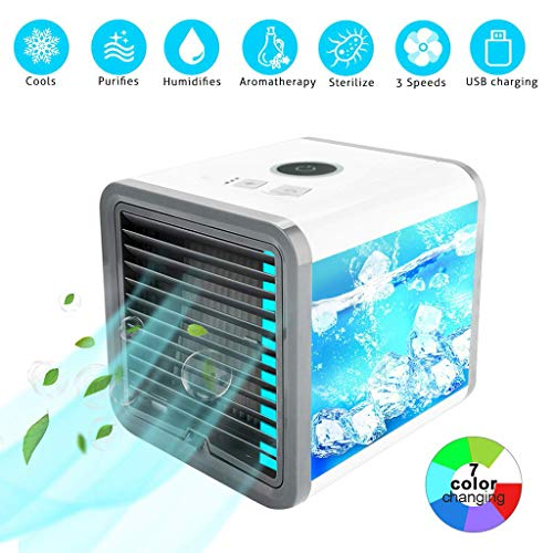 ( Mini fan Clearance , Portable Air Conditioner Fan Mini Evaporative Air Circulator Cooler Humidifier by Little Story Clearance )