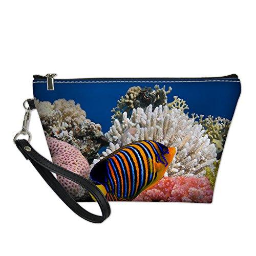 HUGS IDEA - Bolso de asas para mujer azul Tropical Fish4 S Tropical Fish6