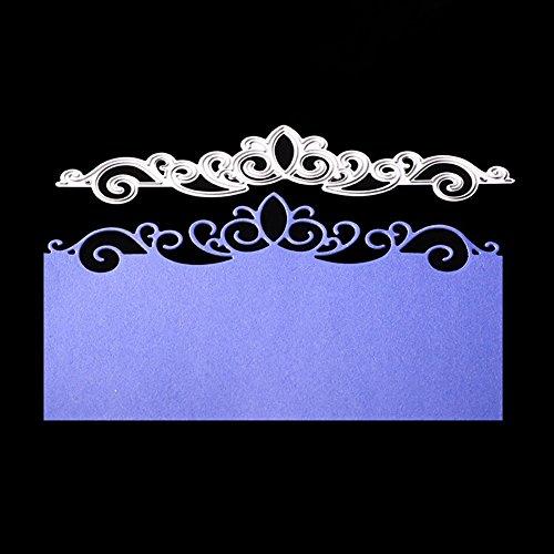 Bluelans Cutting Dies Stencil Metal Mould Template for DIY Scrapbook Album Paper Card Making (Flower Crown Cutting Dies)