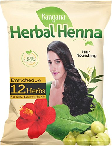 Kangana Herbal Henna Powder for Silky, Soft & Shiny Hair - 100% Natural Henna Powder for Hair - 100 Grams (3.5 Oz) ()