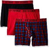 Ben Sherman Men's 3 Pack Boxer Brief-Bsm1102us, Red, L