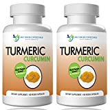 Turmeric Curcumin-2250mg/d-180 Veggie Caps-95% Curcuminoids with Black Pepper Extract (Piperine) - 750mg capsules - 100% ORGANIC Turmeric - Most powerful Turmeric Supplement - with Triphala -(2 Pack)