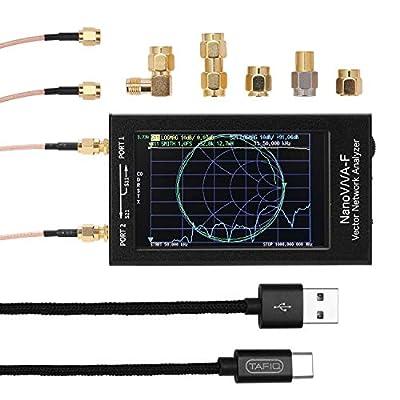 Slickbox NanoVNA-F Handheld Vector Network Analyzer SWR Meter 50KHz-1000MHz 4.3 Inch IPS MF HF VHF Antenna Analyzer