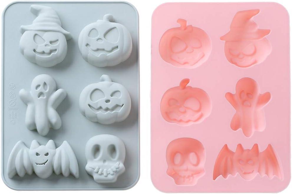 Silicone Cake Mould Half Moon Skull Mold Baking Resin Clay Decorating Tool DIY