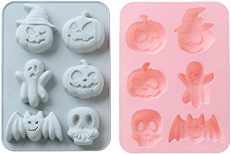 Set of 2*Silicone Mold*GHOSTS*6 Cavity*Bakeware