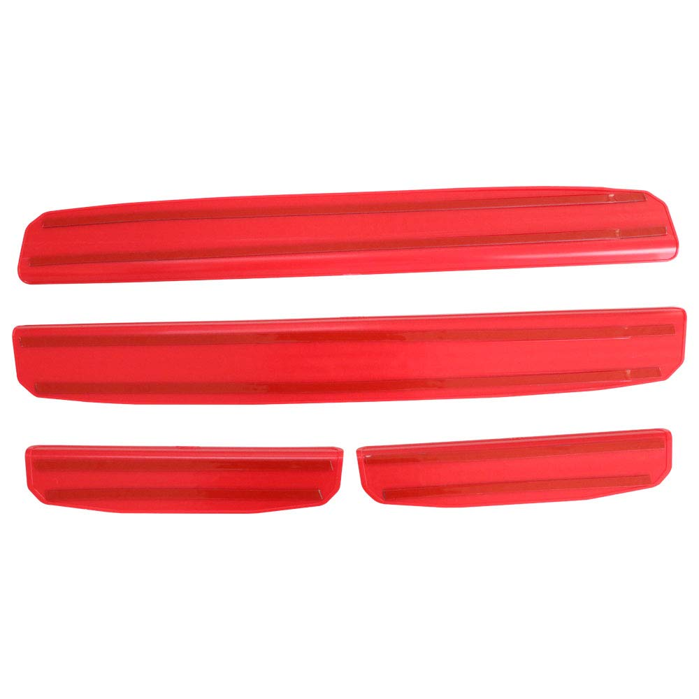 4pc Kit Lantsun Black Front Rear Car Door Sill Cover Panel Step Threshold Scuff Plate Protector Fit 2018JL 4Door RED1001 Lantsun Group Co Ltd