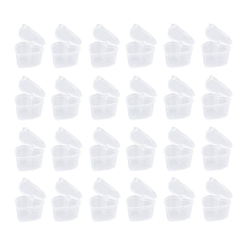 kingpo Contenedor Plastico Barro Bola de Espuma Forma de Corazon Transparente con Tapa Sellado Caja de Almacenamiento