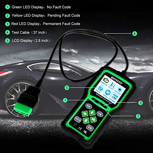 OBD2 Scanner Engine Check Light Fault Code Reader Automotive CAN Diagnostic Scan Tool AH5100 by SCITOO (Image #2)