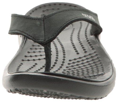 Crocs Femmes Capri Iv Flip-flop Noir / Noir