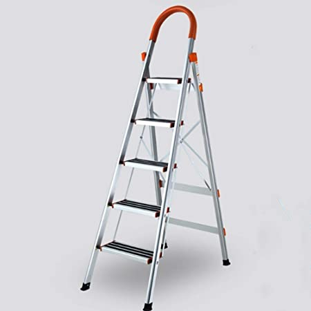 Escalera Portátil para El Hogar Escalera Plegable Aleación De Aluminio Gruesa (3-4-5-6 Escalera) (Tamaño : 5-3.2): Amazon.es: Hogar