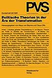 """Politische Theorien in der Ã""""ra der Transformation, Beyme, Klaus von and Offe, Claus, 3531128442"""