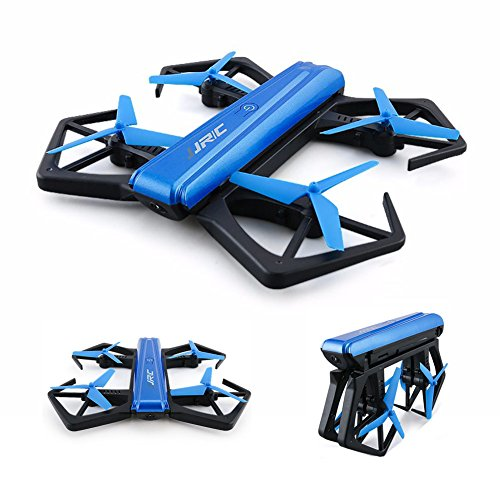 JJR/C H43WH Blue Crab WIFI FPV Foldable Aerial Photography Drones with 720P Camera and One Key Folded in Half Design