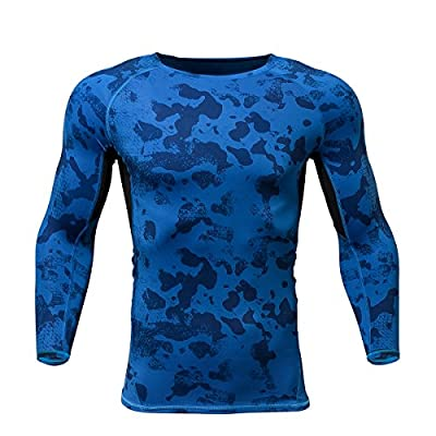 Gash Hao Compression Shirt Men Running Cycling Movement Gym Bodybuilding Camouflage 3D Printing Long Sleeve T-Shirt