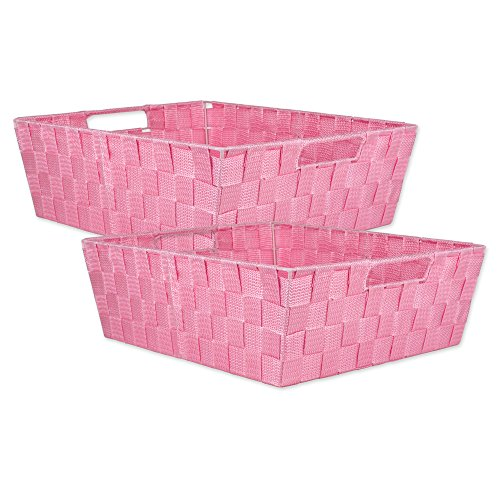 DII Durable Trapezoid Woven Nylon Storage Bin or Basket for Organizing Your Home, Office, or Closets  (Tray - 13x15x5
