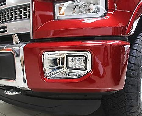 ABS Cromo Cubierta de la luz antiniebla delantera Parachoques delantero Cubierta de la luz antiniebla Recorte Decoraci/ón del coche Se adapta para Prius Hatchback 2019-20 Cubierta de la luz antiniebla