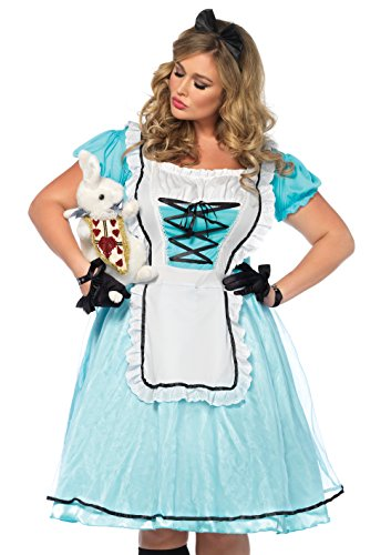 Leg Avenue Women's Plus Size Alice in Wonderland Costume, Blue/White 3X-4X ()