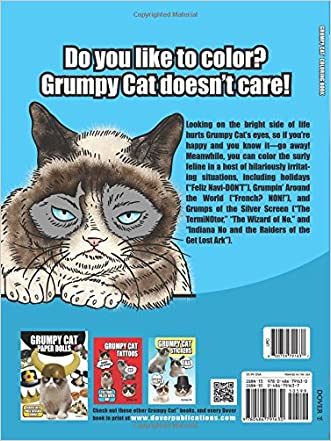 Durable Modeling Grumpy Cat Coloring Book Dover Books For Children