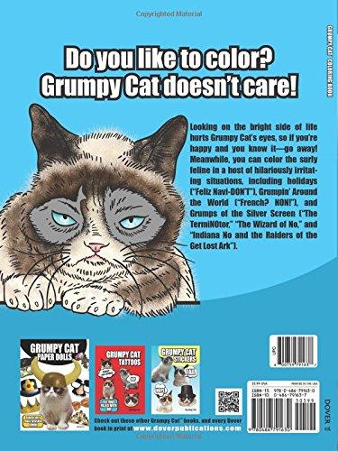Grumpy Cat Coloring Book Dover Books For Children David Cutting 0800759791637 Amazon