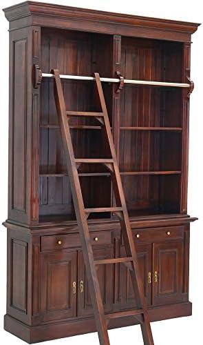 Moreko - Armario para libros con escalera (caoba): Amazon.es: Hogar