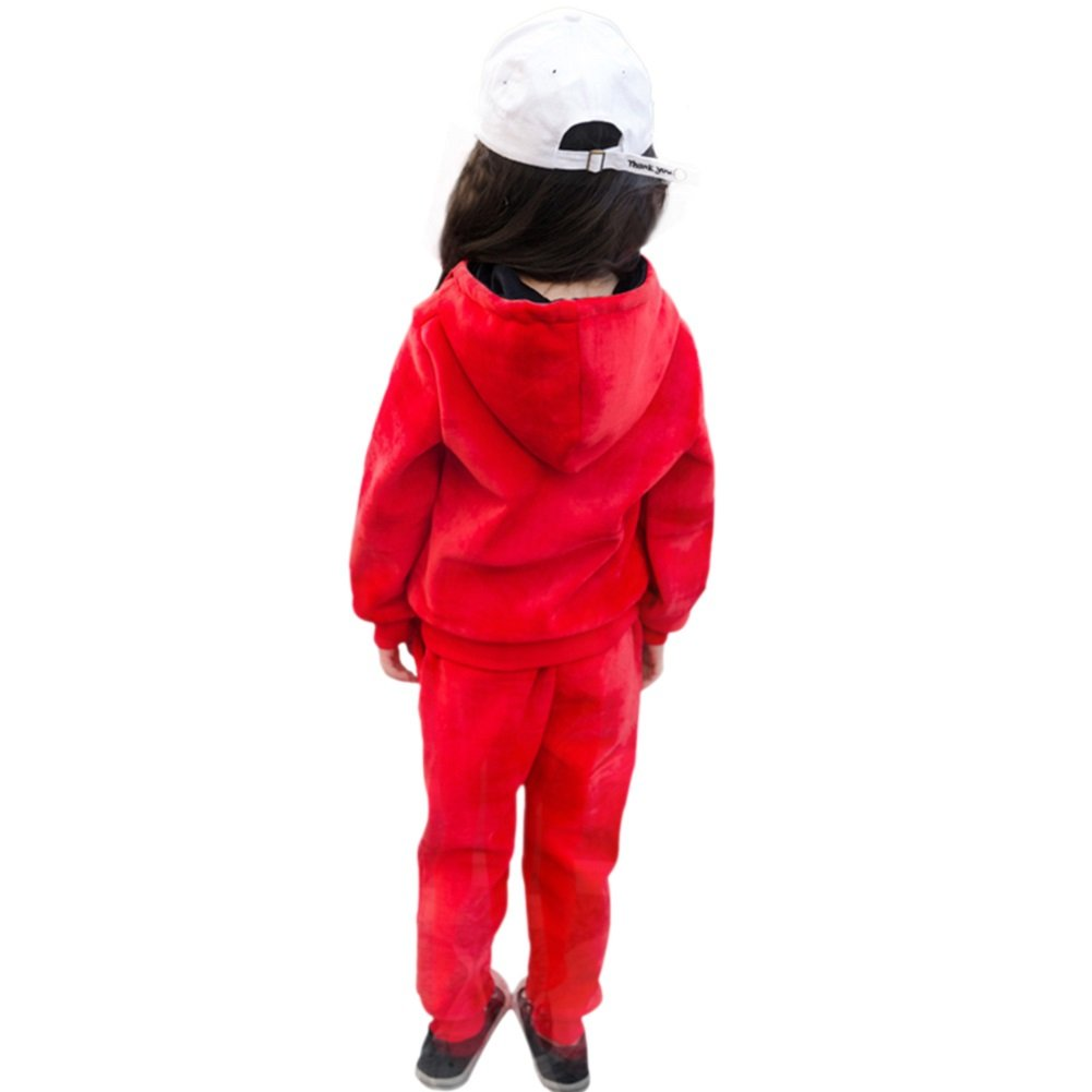 Rexury Girl/'s Hoodie and Pants Set Velour Sweatsuit Tracksuit 2 Piece Set