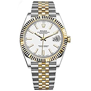 Rolex Datejust 41 Stainless Steel & 18K Yellow Gold Jubilee Watch White Dial 126333