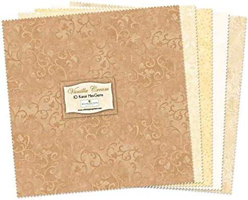 Wilmington Prints Essential 5 Karat Gems 24 Fabric Squares 5 x 5 Vanilla Cream