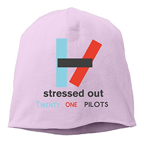 YUVIA Stressed Out Men's&Women's Patch Beanie SkatingPink Caps Hats For Autumn And Winter