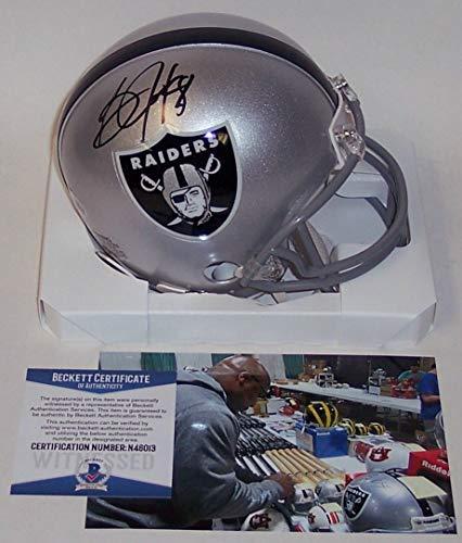 (Bo Jackson Autographed Hand Signed Raiders Mini Football Helmet - BAS Beckett Authentication)
