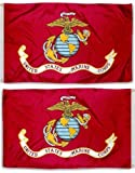 USA Seller3x5 USMC Marine Corps Marines Double Sided Knitted Nylon Flag 3ft x 5ft Banner + bonus e-book with pictures For Sale