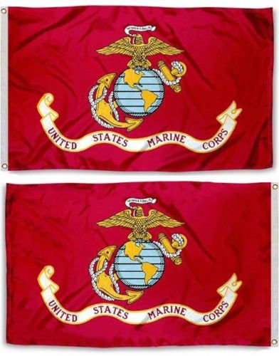 USA Seller3x5 USMC Marine Corps Marines Double Sided Knitted