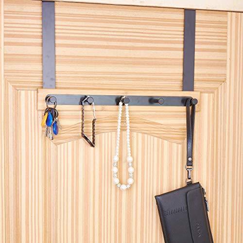 KeepTpeeK Over The Door Hook Hanger Organizer for Coats, Hats, Scarves, Purses, Leashes, Bath Towels & Robes Men and Women Clothing Rack 5 Hook by KeepTpeeK (Image #2)