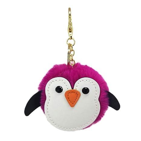 Wansan Llavero Lindo pingüino Llavero para niña niño para ...