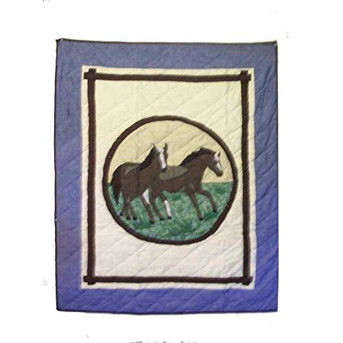 Horse Friends Quilt (Patch Magic Horse Friends Cotton Crib Quilt)