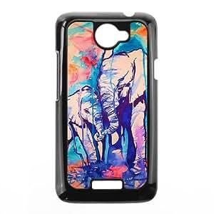 HTC One X Cell Phone Case Black Elephant Pattern hkqe