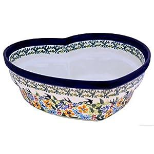 Bunzlauer Keramik Ceramic Heart Bowl w 21.9cm, H: 7.7cm Volume 1.5L in Premium Design DU182