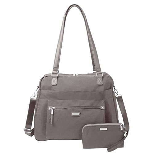 99cbb2500021 Baggallini Carry All Duffle Weekender Handbag Bundle w Key Chain Purse  Light (Apple)