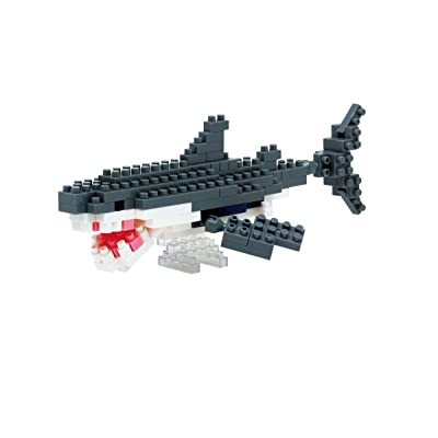 Nanoblock Great White Shark Building Kit: Toys & Games