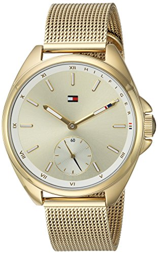 Tommy Hilfiger Women's Sport' Quartz Gold-Tone-Stainless-Steel Casual Watch, Color:Gold-Toned (Model: 1781757)